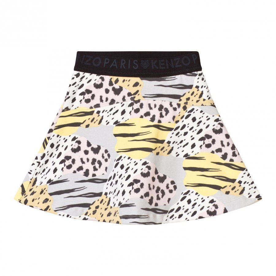 Kenzo Animal Print Skirt Multi Colour Lyhyt Hame