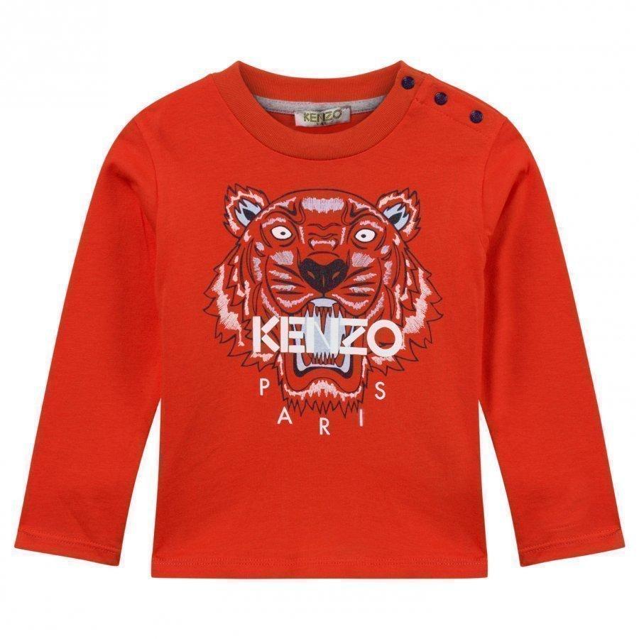 Kenzo Azur T-Shirt Orange Pitkähihainen T-Paita