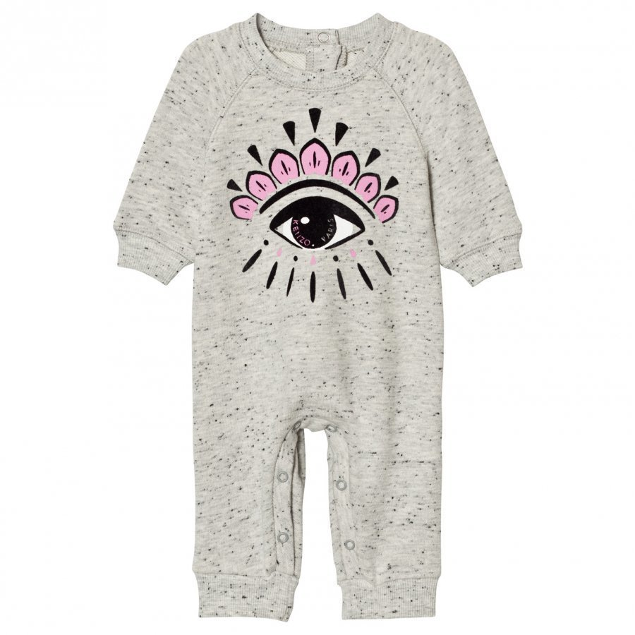 Kenzo Baby One-Piece Eye Print Grey Marl Body