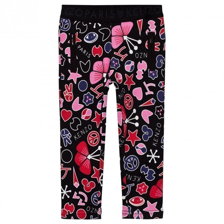 Kenzo Black All Over Icons Print Treggings Legginsit