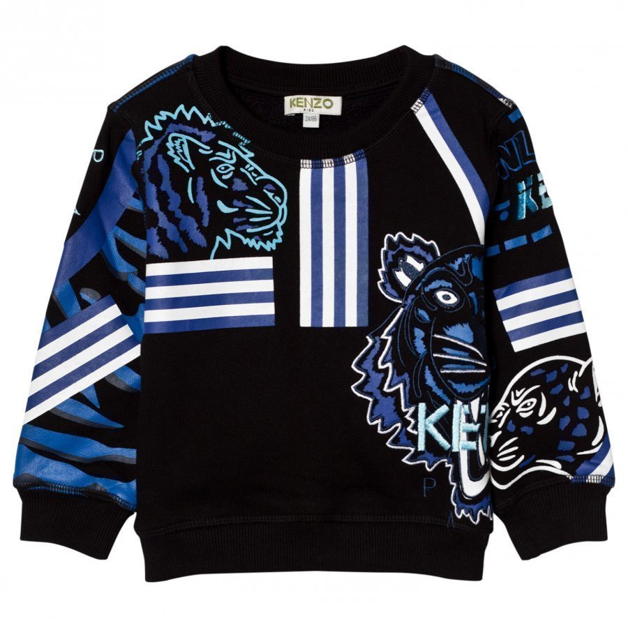 Kenzo Black All Over Icons Printed Sweater Oloasun Paita