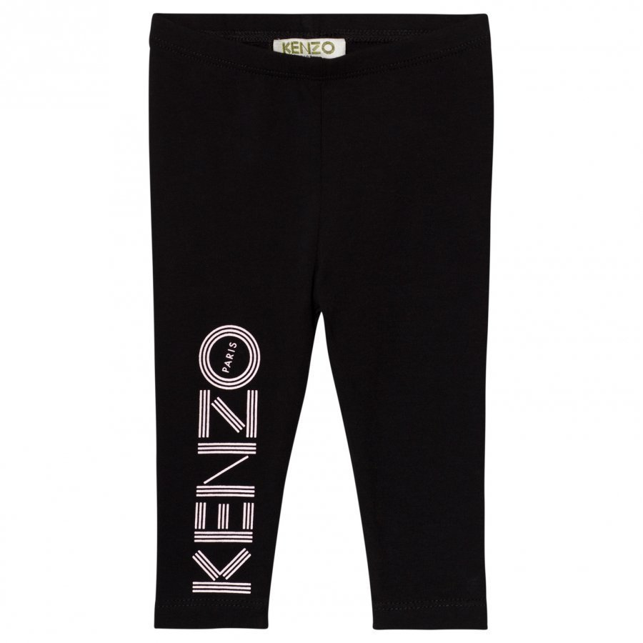 Kenzo Black Branded Leggings Legginsit