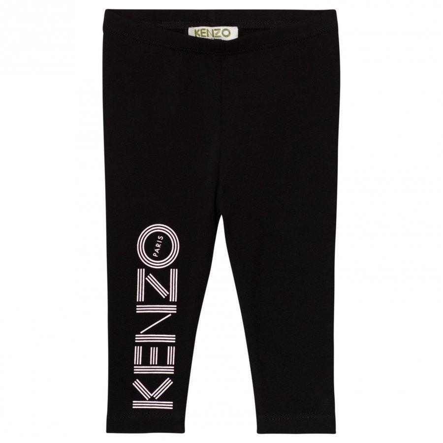 Kenzo Black Branded Leggings Legginsit