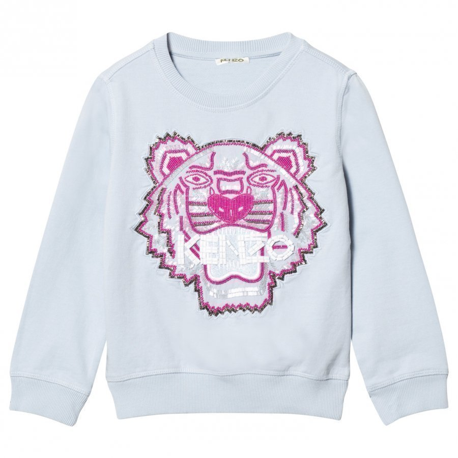 Kenzo Blue Beaded And Embroidered Tiger Sweatshirt Oloasun Paita