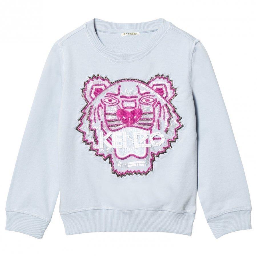 Kenzo Blue Beaded And Embroidered Tiger Sweatshirt Oloasun Paita