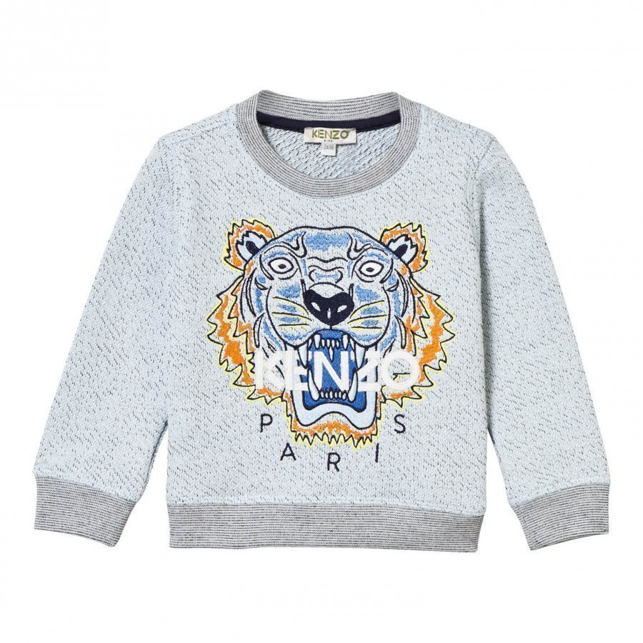 Kenzo Blue Marl Embroidered Tiger Sweatshirt Oloasun Paita