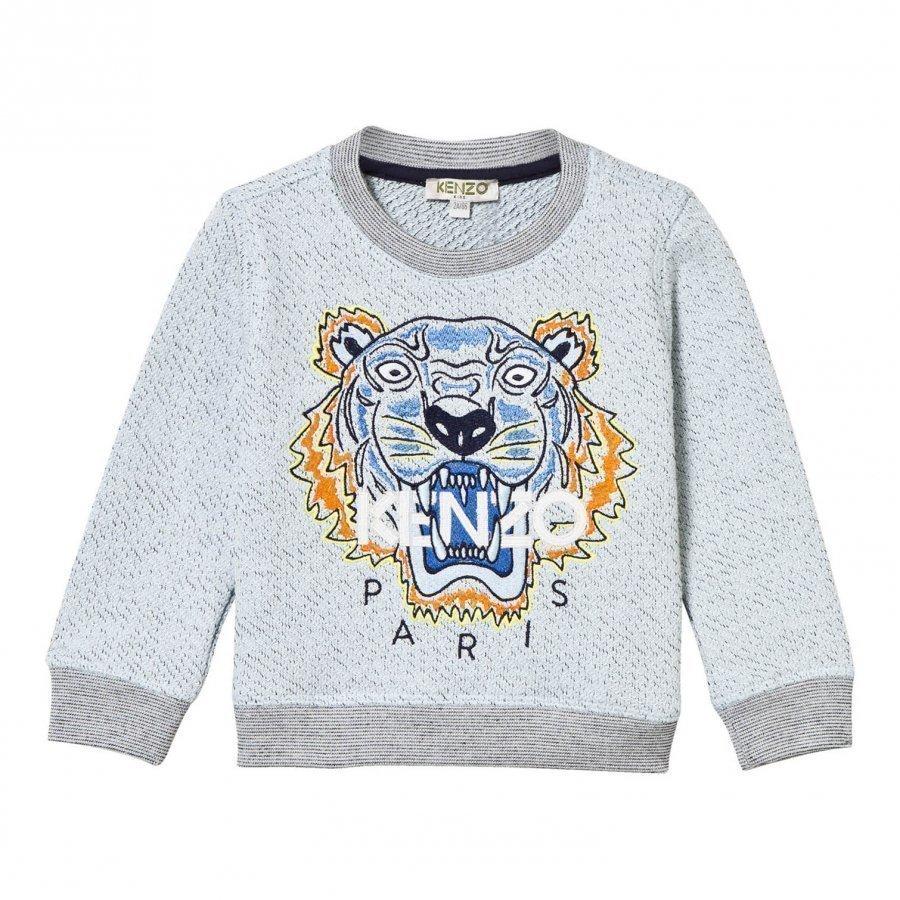 Kenzo Blue Marl Embroidered Tiger Sweatshirt Oloasun Paita