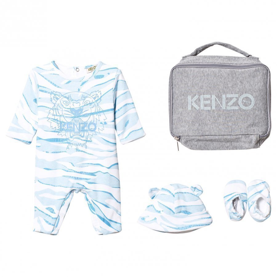 Kenzo Blue Tiger Baby Body Hat And Booties Gift Set Lahjasetti