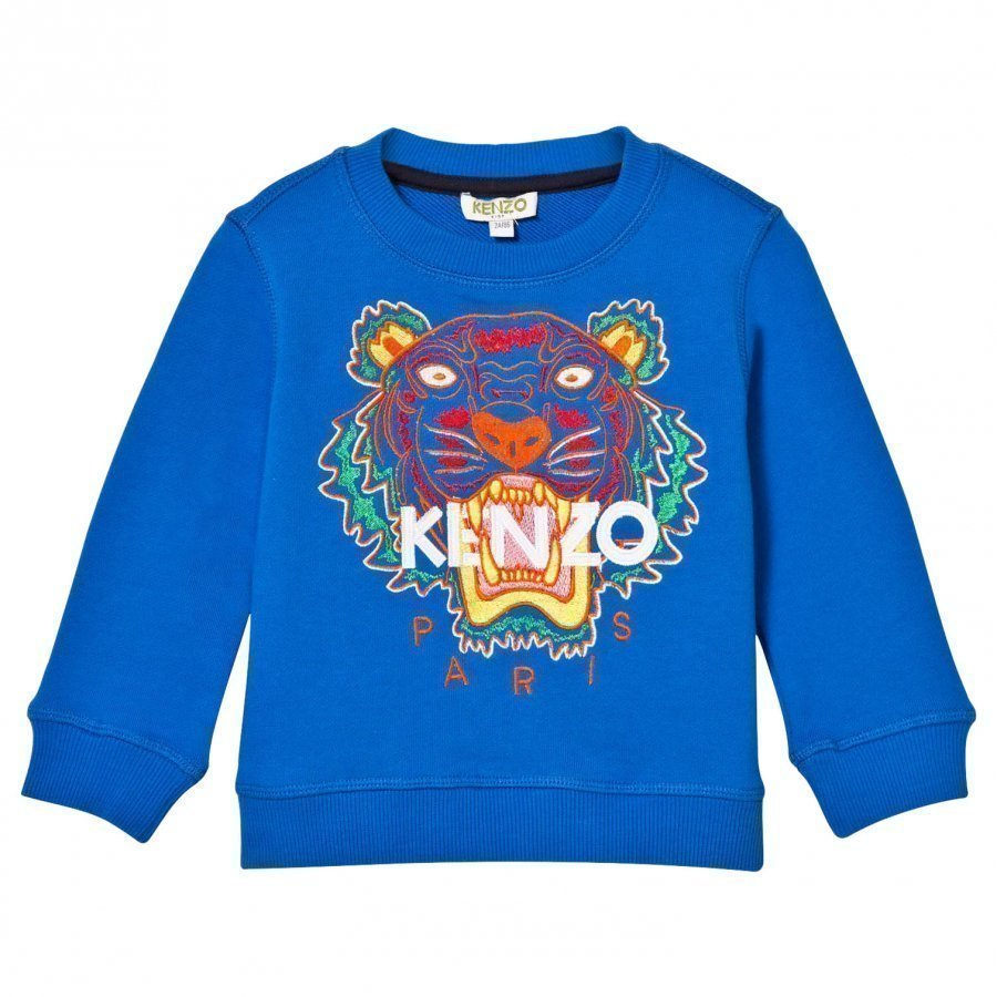 Kenzo Blue Tiger Embroidered Sweatshirt Oloasun Paita