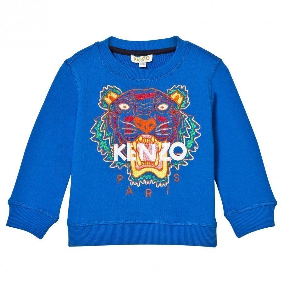 Kenzo Blue Tiger Embroidered Sweatshirt Oloasun Paita