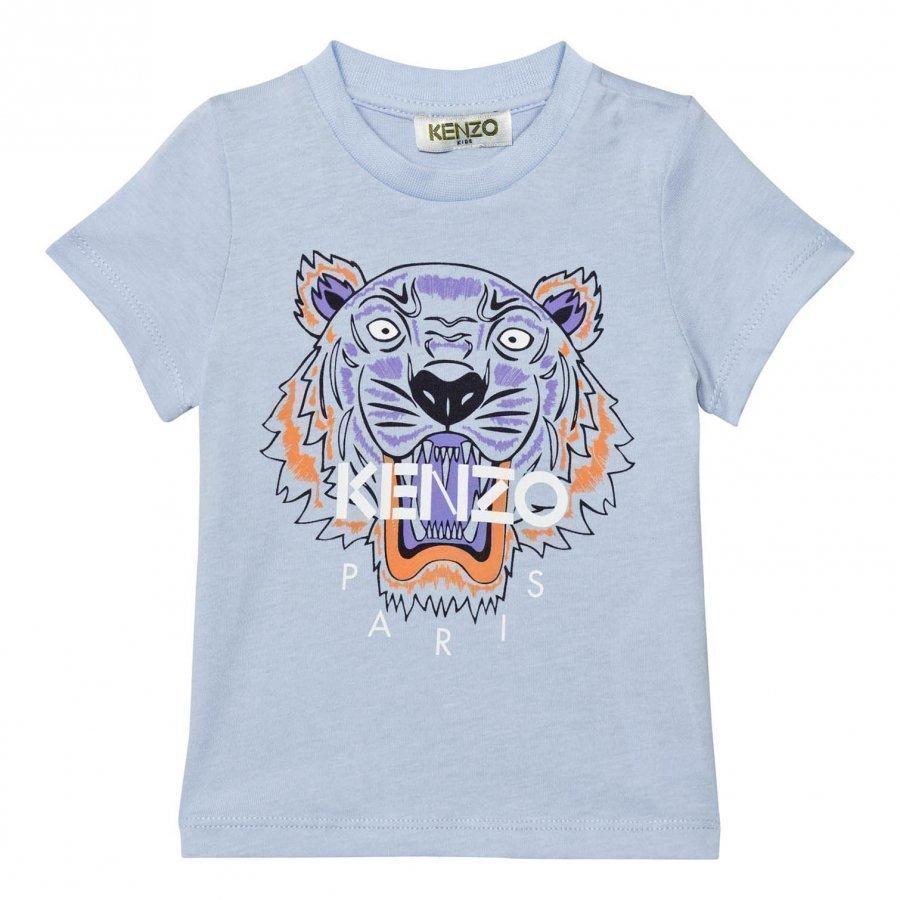 Kenzo Blue Tiger Print Tee T-Paita
