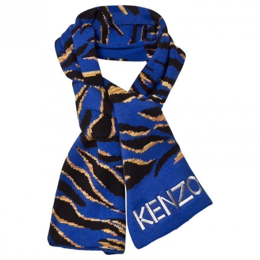 Kenzo Blue Tiger Scarf Villahuivi