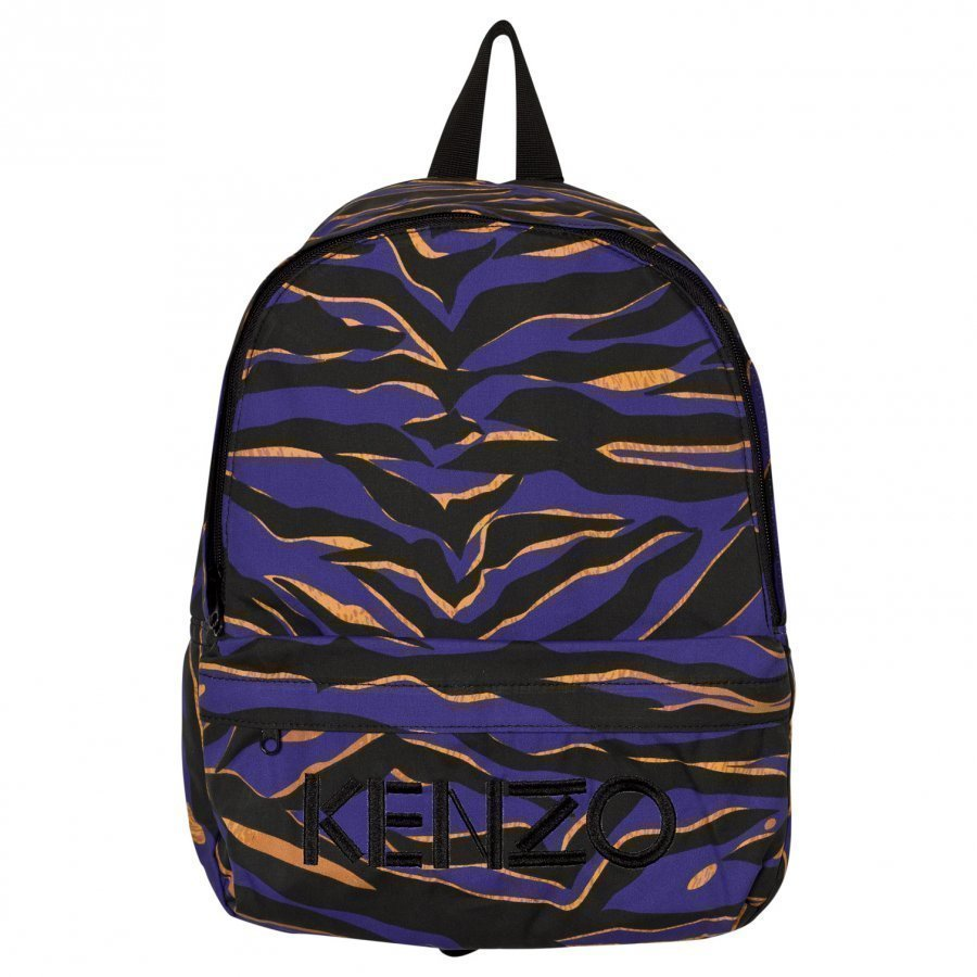 Kenzo Blue Tiger Stripe Backpack Reppu