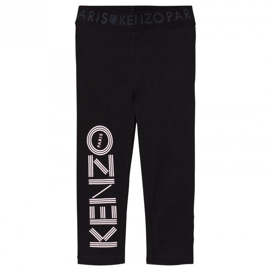 Kenzo Branded Leggings Black Legginsit