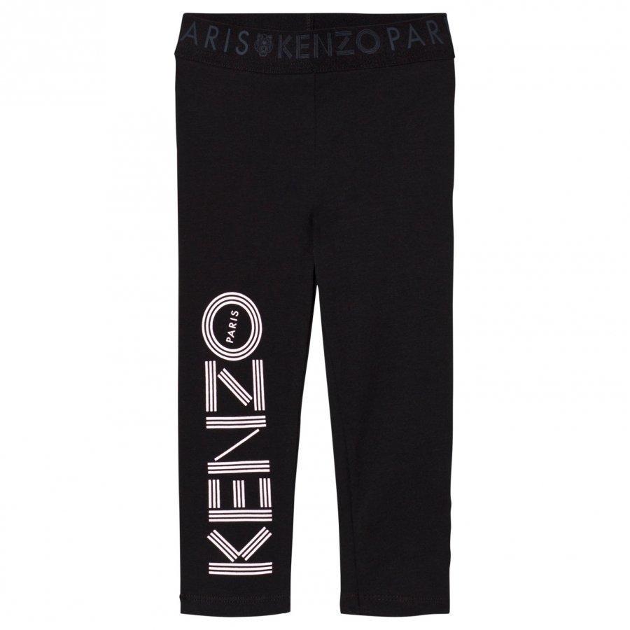 Kenzo Branded Leggings Black Legginsit