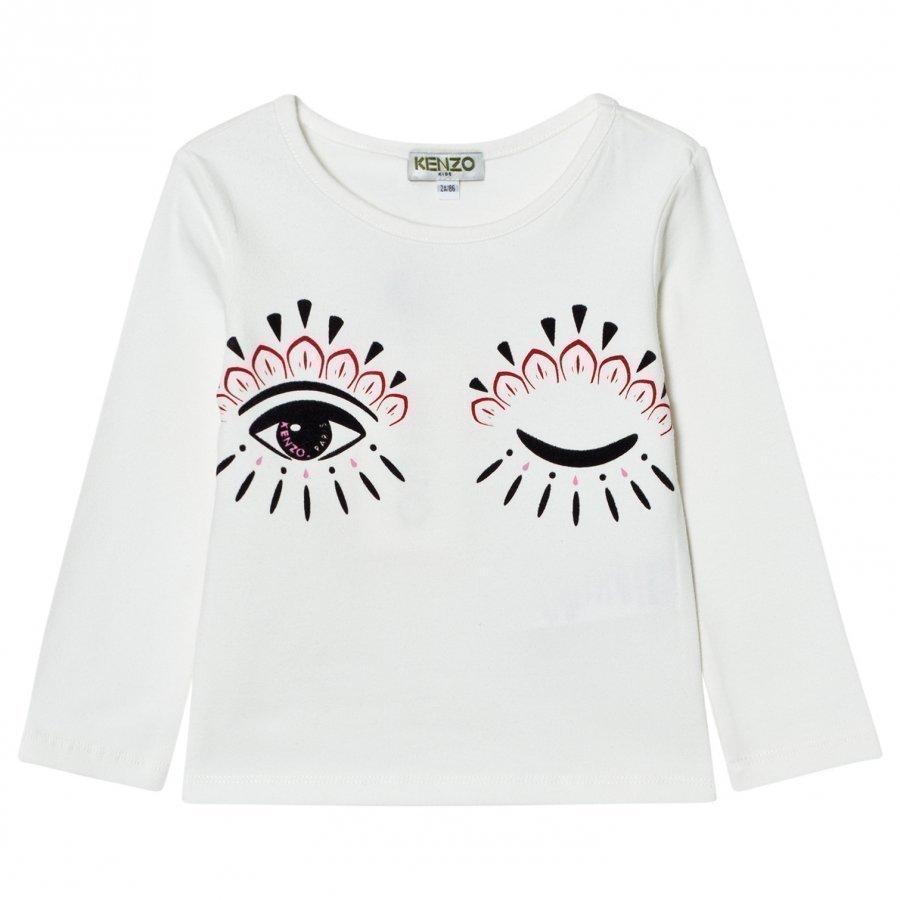 Kenzo Eye Print Long Sleeve Tee Cream Pitkähihainen T-Paita