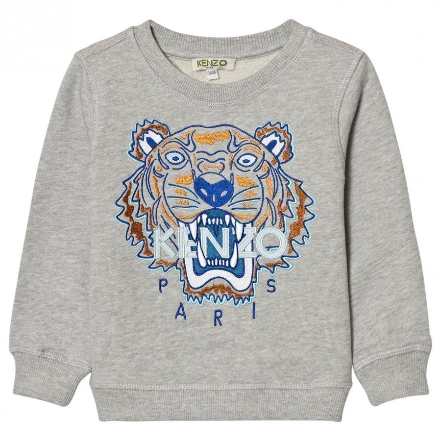 Kenzo Grey And Blue Embroidered Sweat Shirt Oloasun Paita