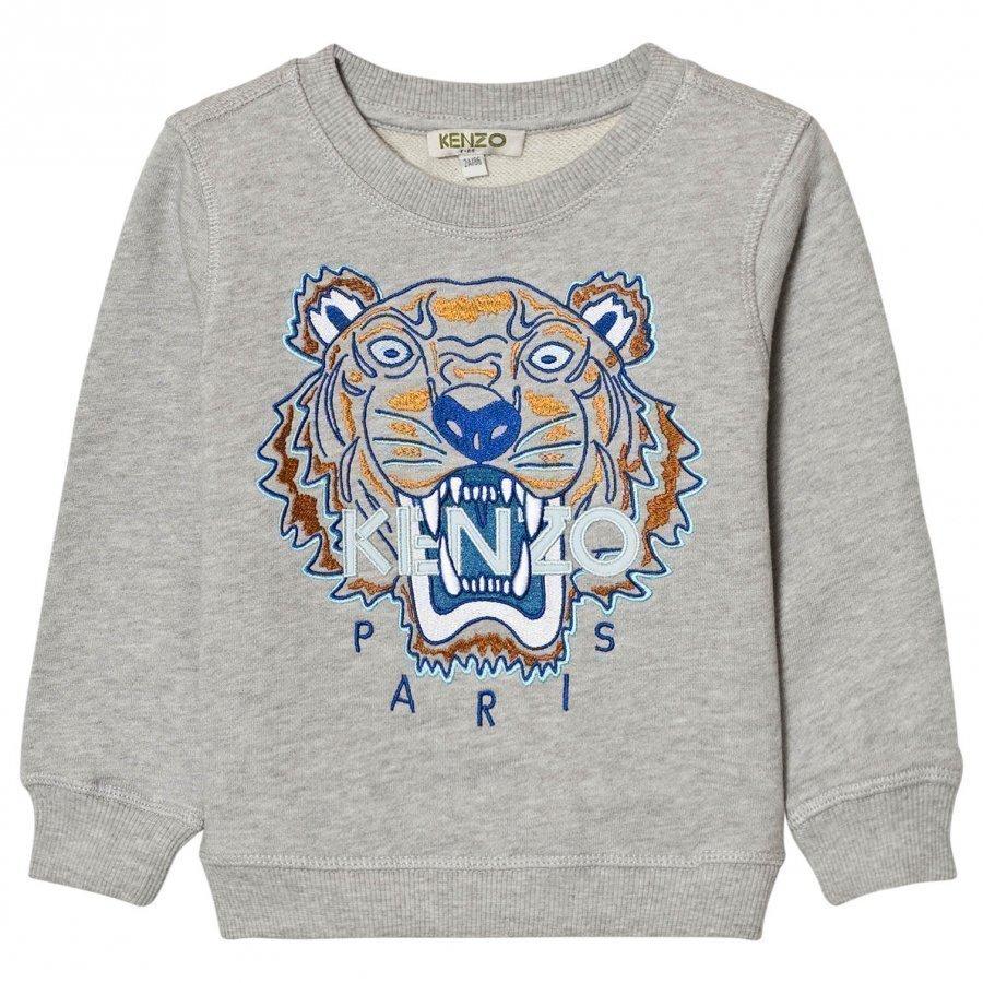Kenzo Grey And Blue Embroidered Sweat Shirt Oloasun Paita