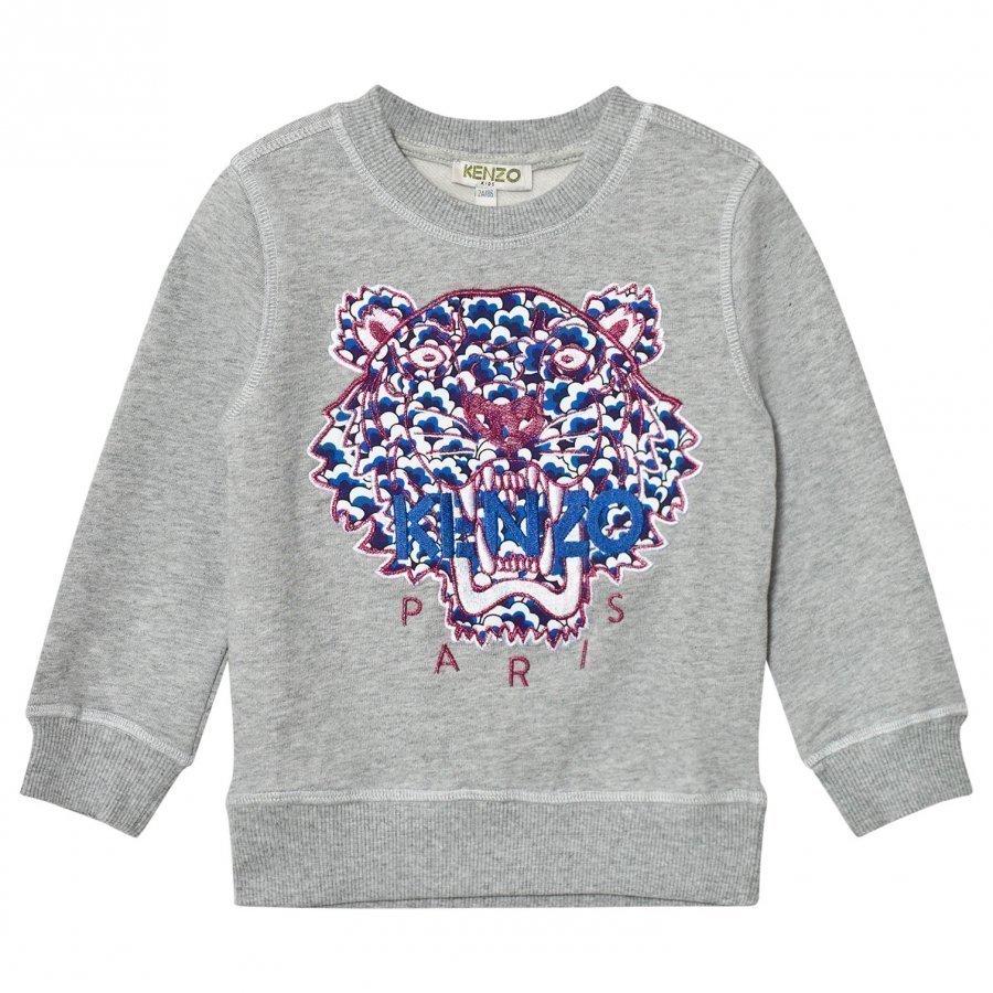 Kenzo Grey Embroidered Tiger Sweatshirt Oloasun Paita