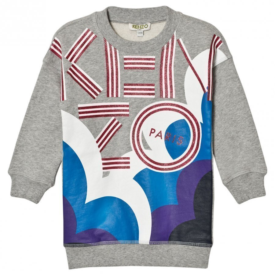 Kenzo Grey Marl Glitter Cloud Sweater Dress Mekko