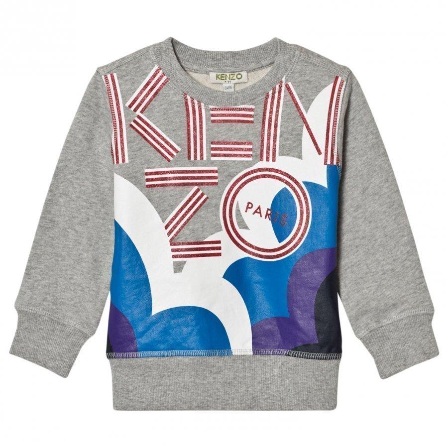 Kenzo Grey Marl Glitter Cloud Sweatshirt Oloasun Paita
