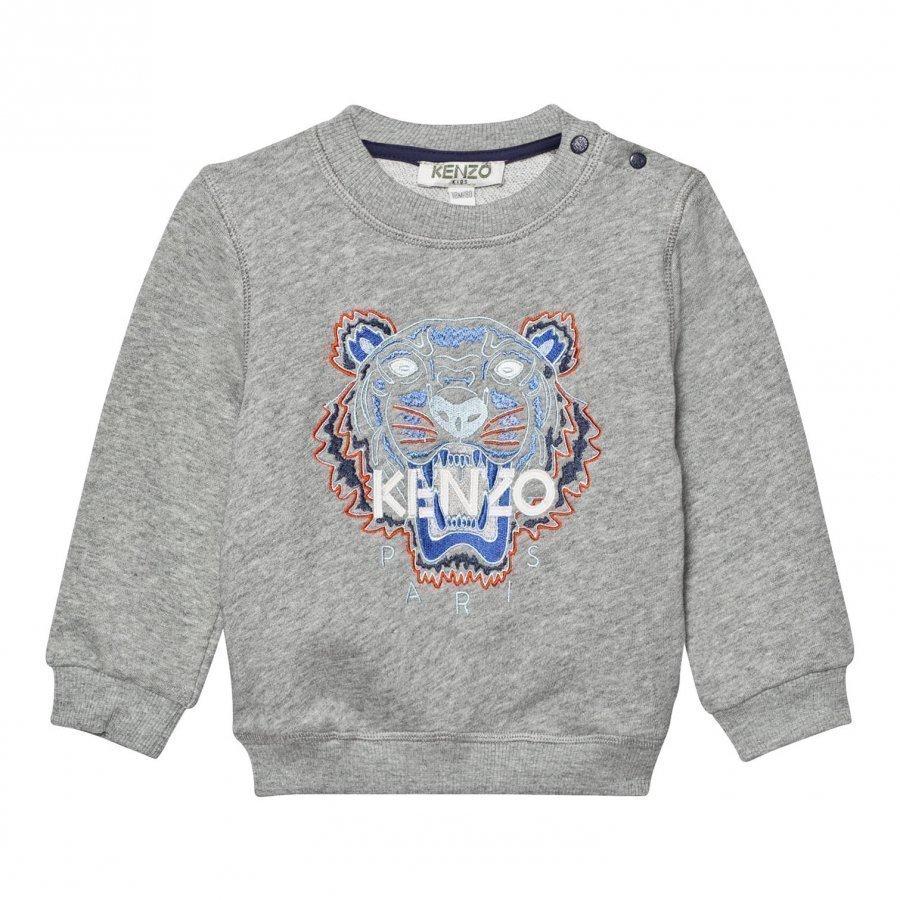 Kenzo Grey Marl Tiger Embroidered Sweatshirt Oloasun Paita