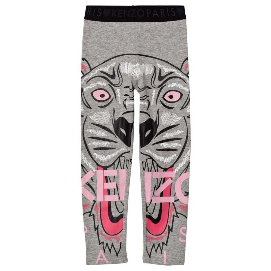 Kenzo Grey Marl Tiger Print Leggings Legginsit