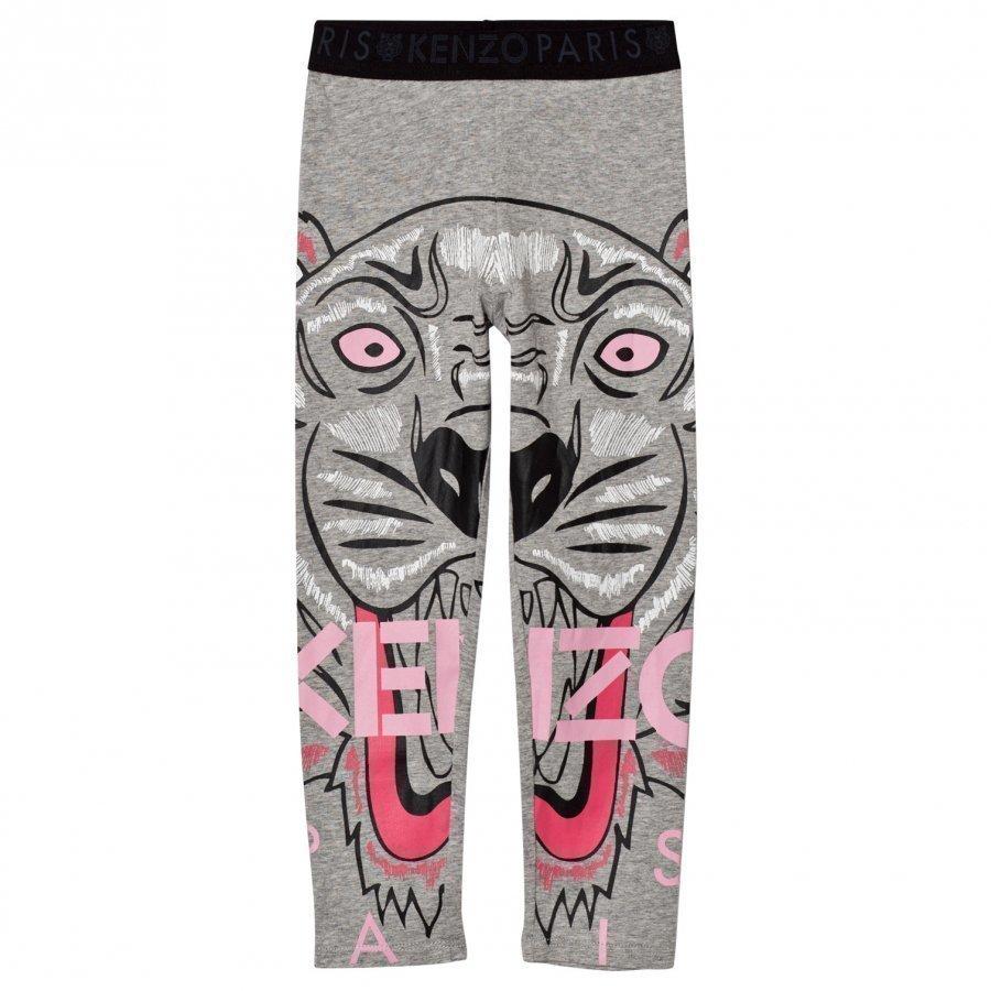 Kenzo Grey Marl Tiger Print Leggings Legginsit