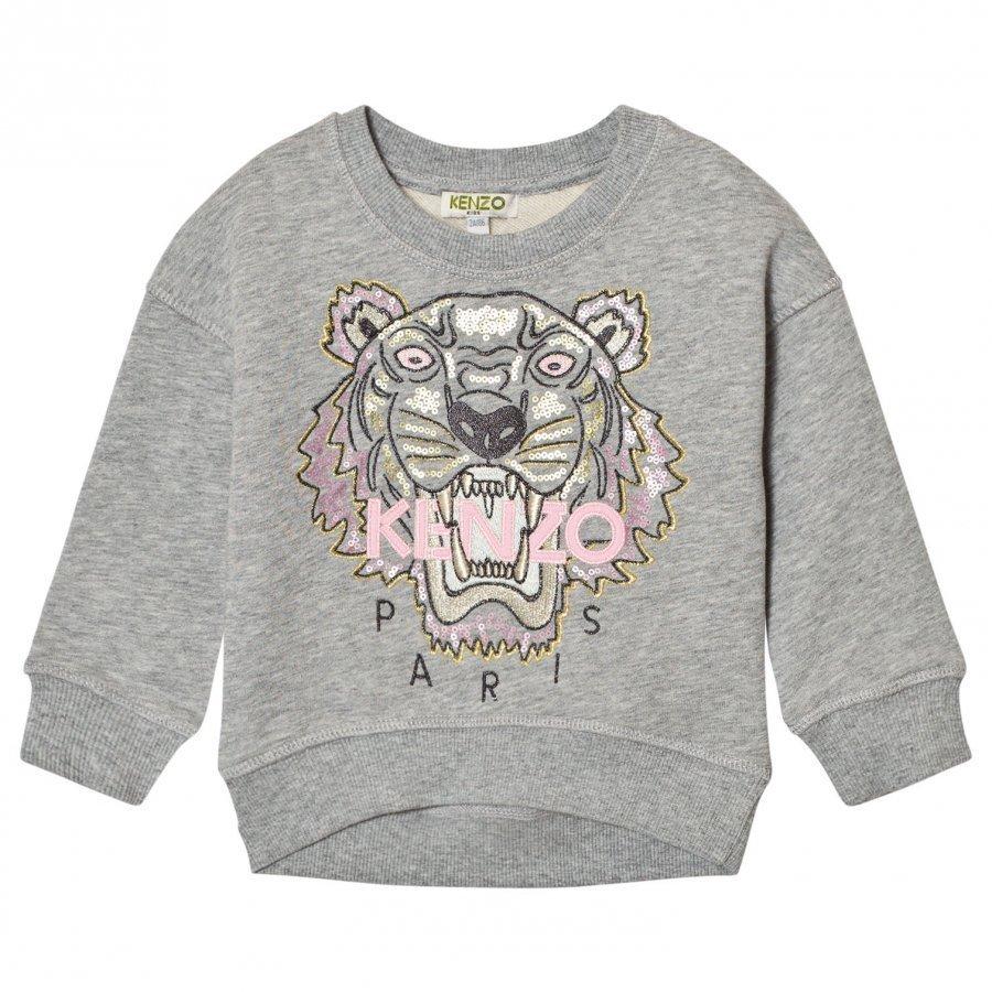 Kenzo Grey Sequin Embroidered Tiger Sweatshirt Oloasun Paita