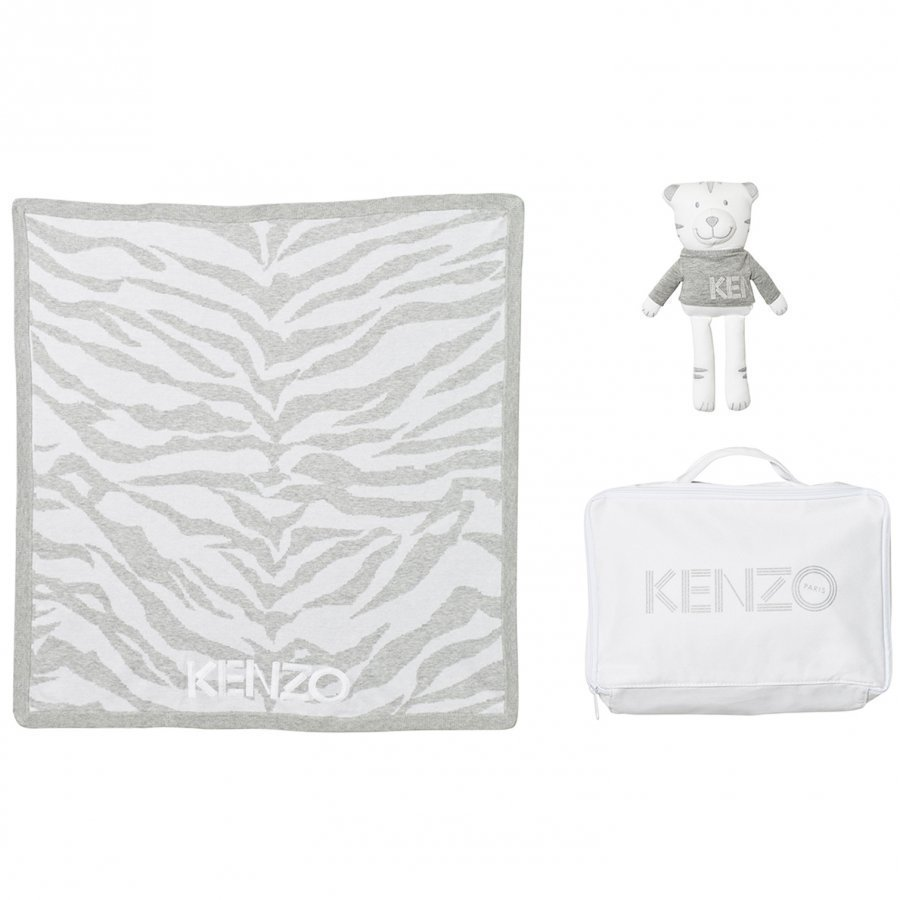 Kenzo Grey Tiger Blanket Bear Gift Set Body