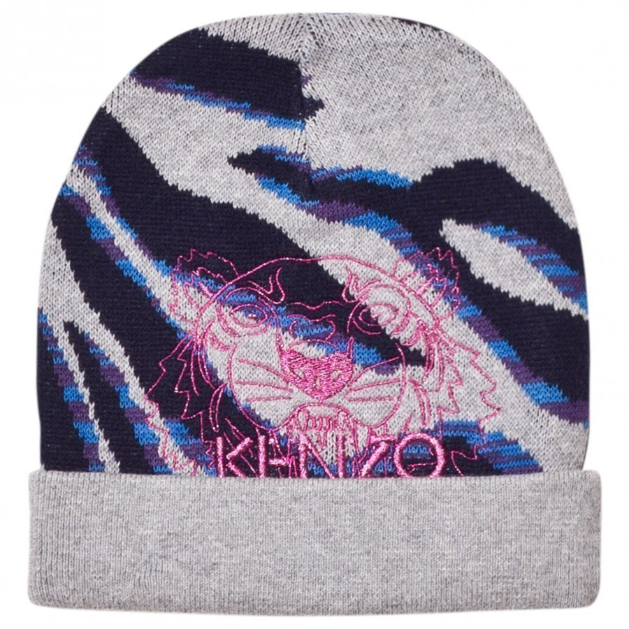 Kenzo Grey Tiger Embroidered Beanie Pipo