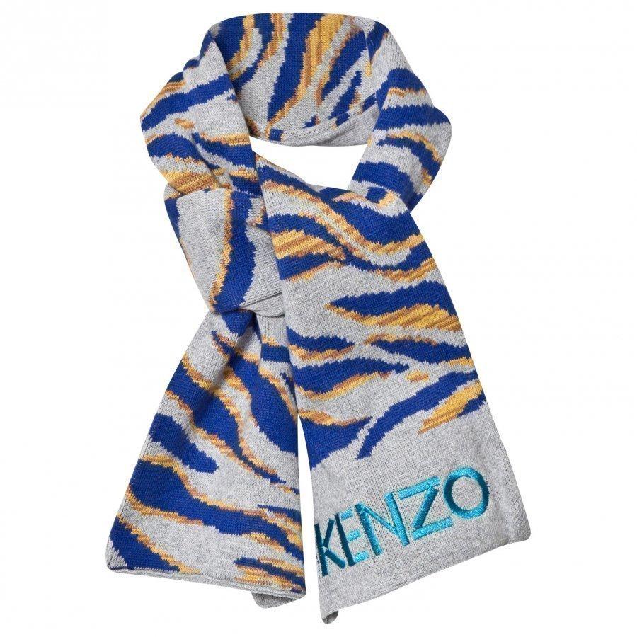Kenzo Grey Tiger Scarf Villahuivi