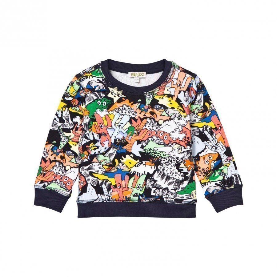 Kenzo Multi All Over Print Sweatshirt Oloasun Paita