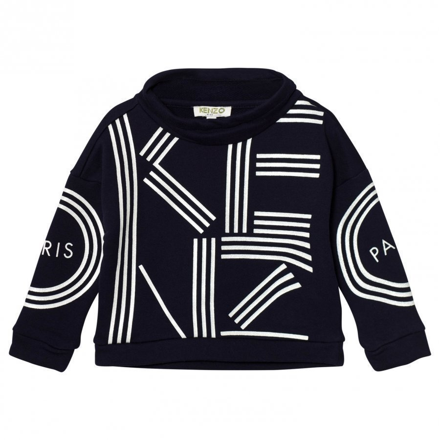 Kenzo Navy Branded Mock Neck Sweatshirt Oloasun Paita
