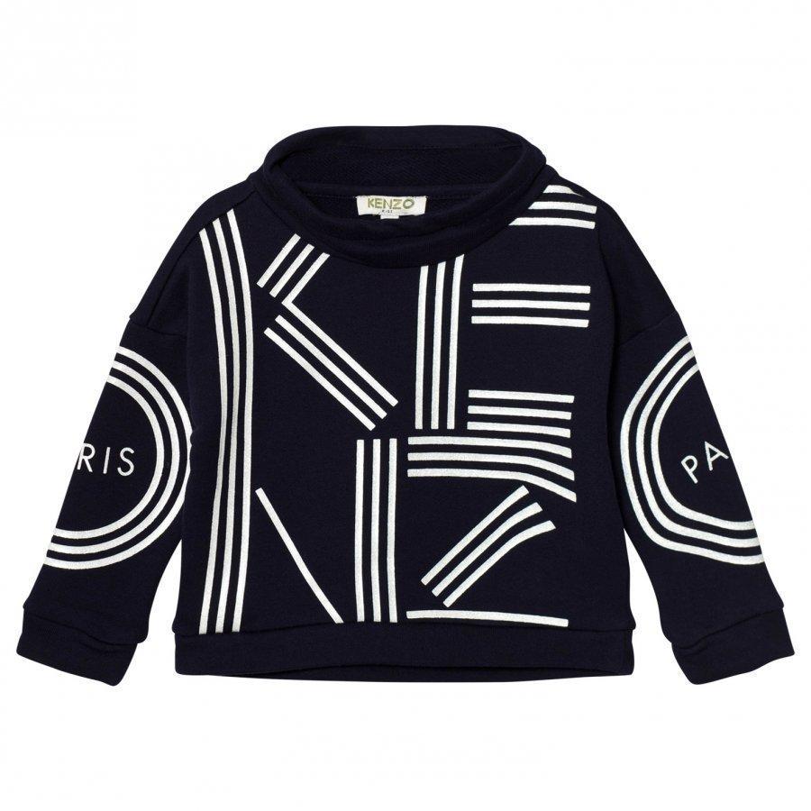 Kenzo Navy Branded Mock Neck Sweatshirt Oloasun Paita