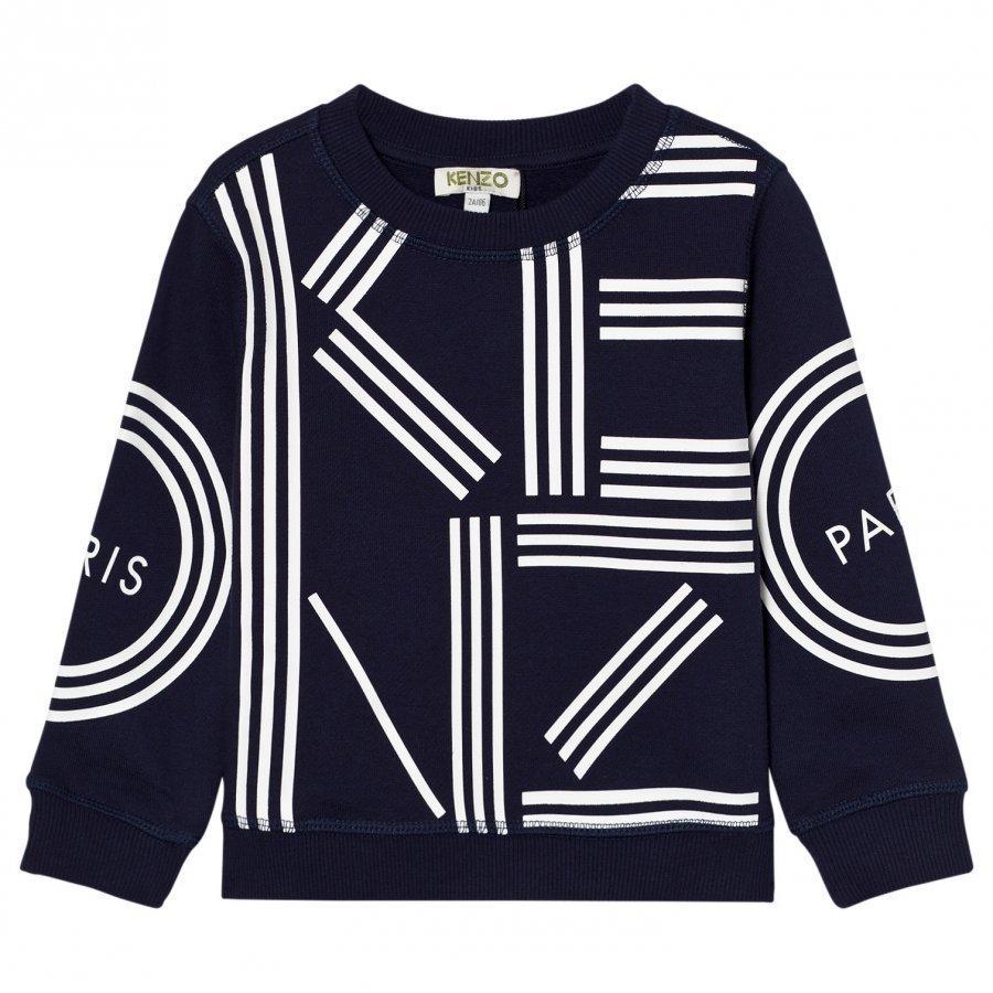 Kenzo Navy Kenzo Logo Sweatshirt Oloasun Paita