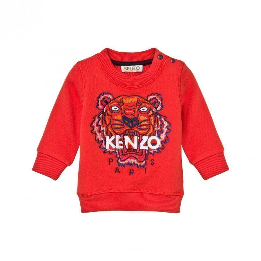 Kenzo Orange Tiger Emrbroidered Sweatshirt Oloasun Paita
