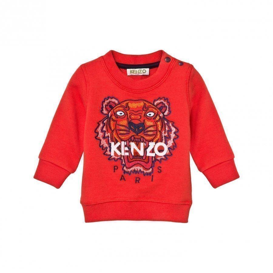 Kenzo Orange Tiger Emrbroidered Sweatshirt Oloasun Paita