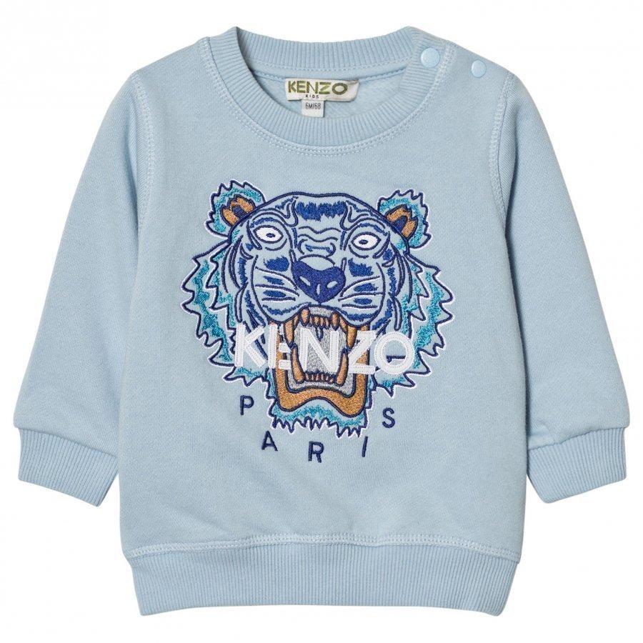 Kenzo Pale Blue Tiger Print Sweatshirt Oloasun Paita