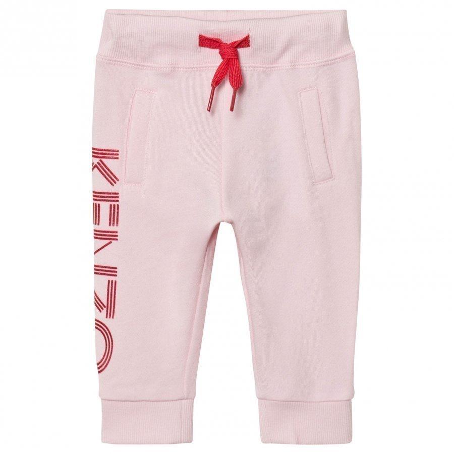 Kenzo Pale Pink Branded Sweat Pants Verryttelyhousut