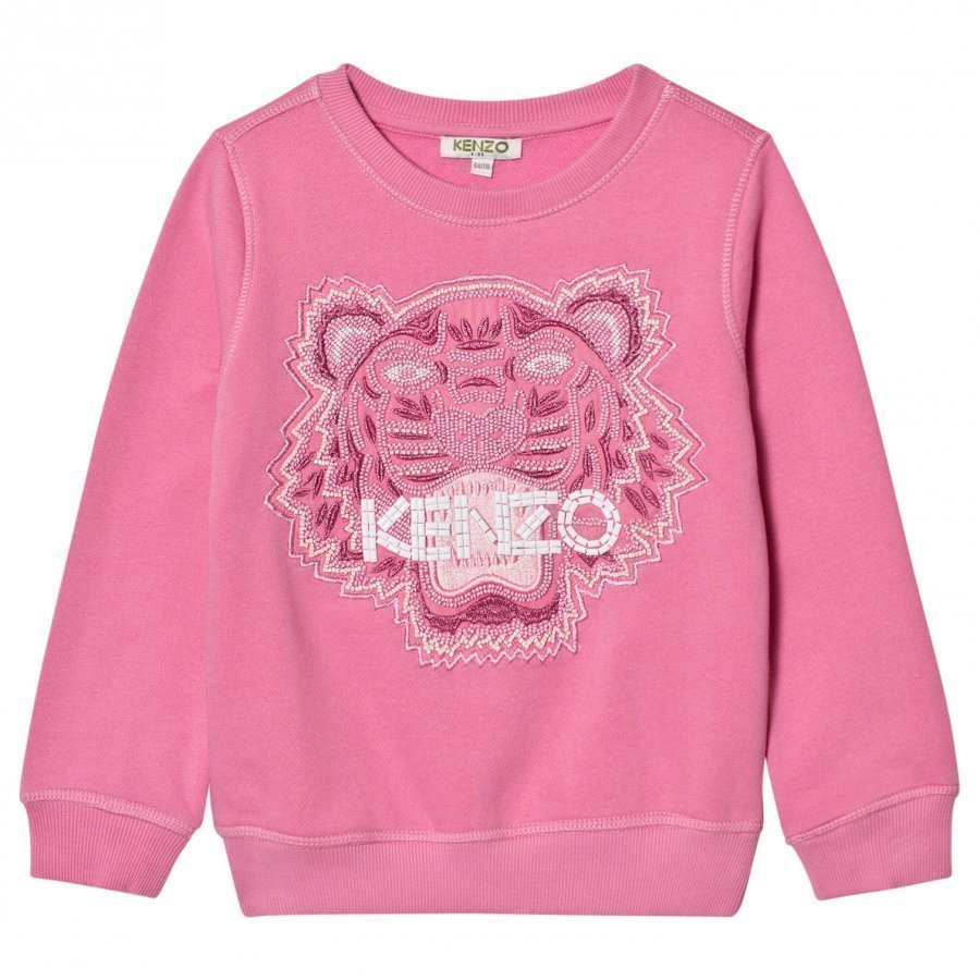 Kenzo Pink Beaded And Embroidered Sweatshirt Oloasun Paita