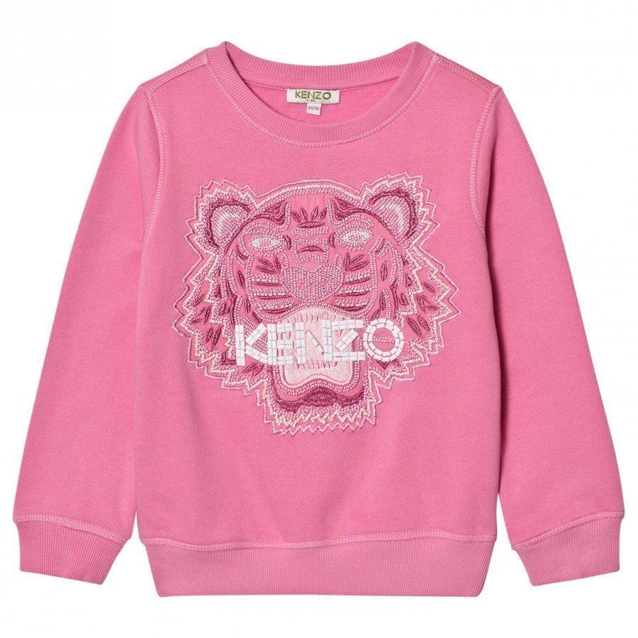 Kenzo Pink Beaded And Embroidered Sweatshirt Oloasun Paita