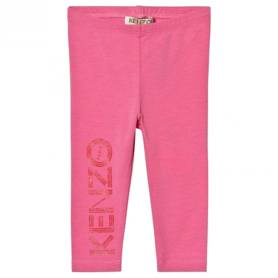 Kenzo Pink Branded Leggings Legginsit