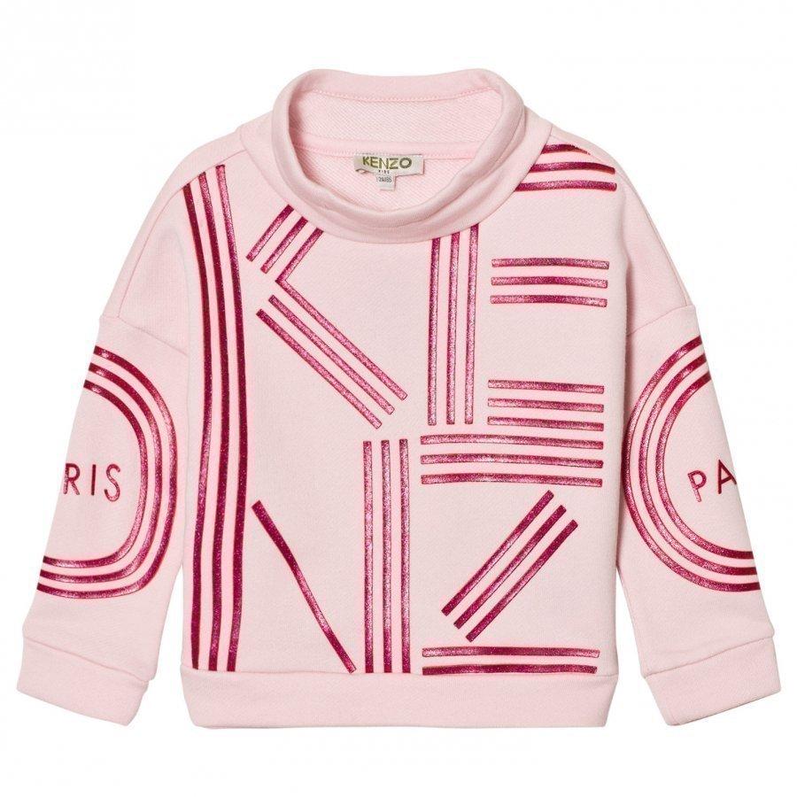 Kenzo Pink Branded Mock Neck Sweatshirt Oloasun Paita