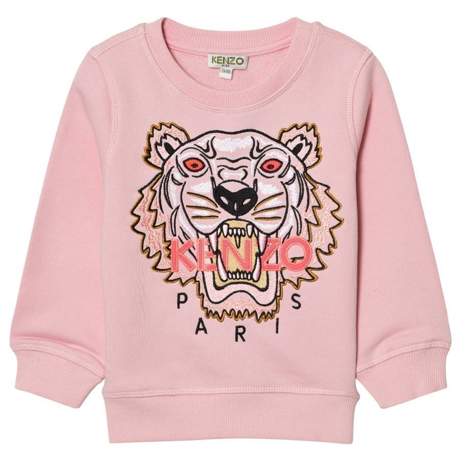 Kenzo Pink Embroidered Tiger Sweatshirt Oloasun Paita