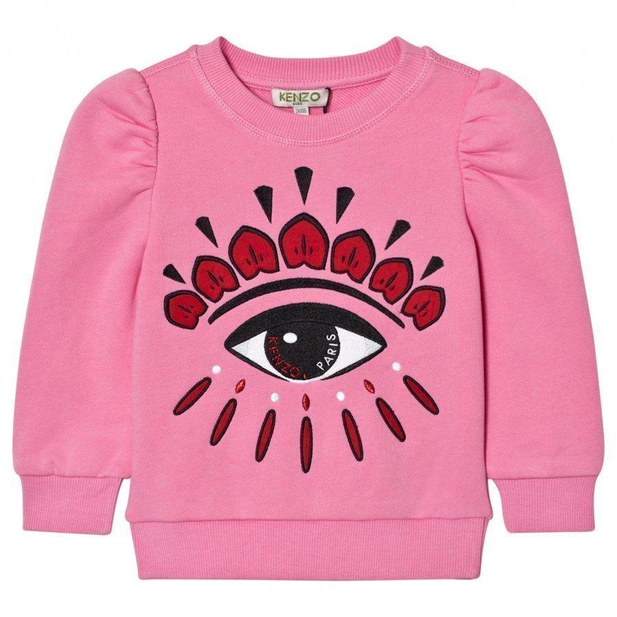 Kenzo Pink Eye Back Front Print Sweatshirt Oloasun Paita
