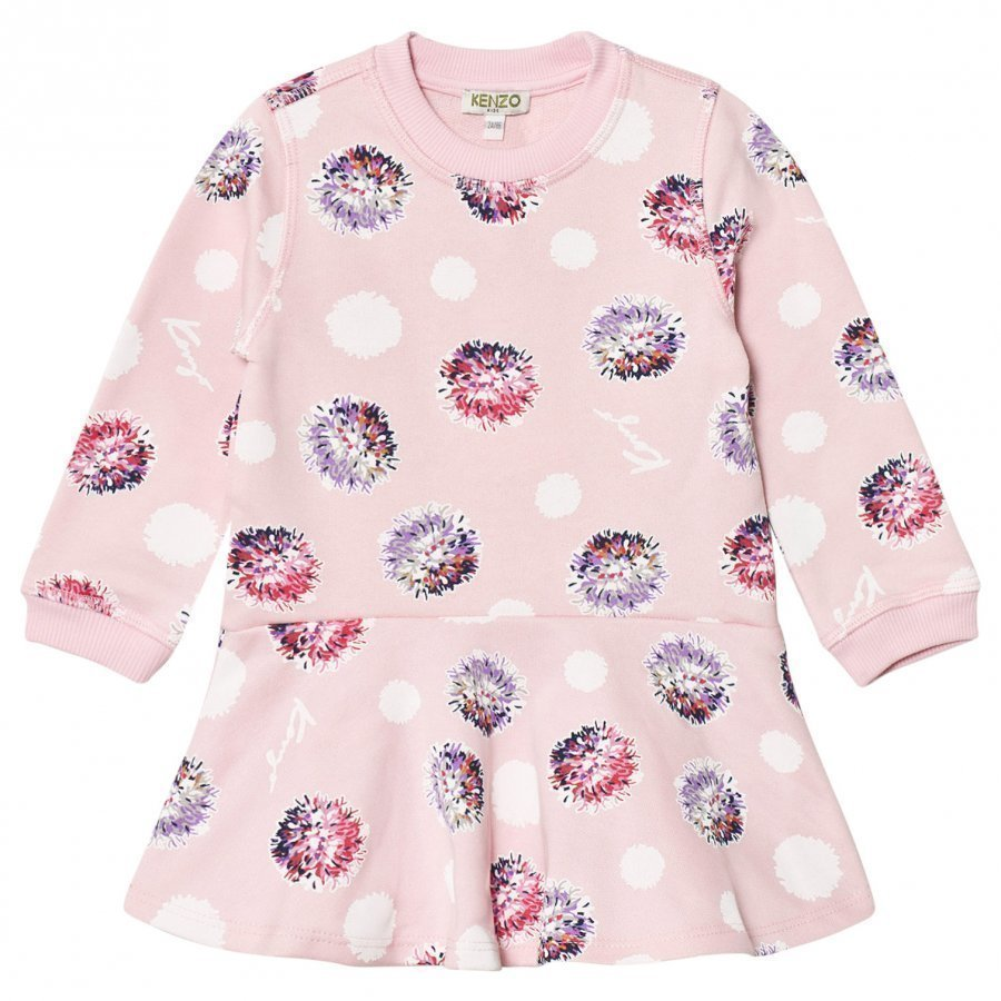 Kenzo Pink Spot Sweat Dress Mekko