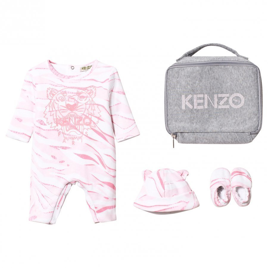 Kenzo Pink Tiger Baby Body Hat And Booties Gift Set Lahjasetti