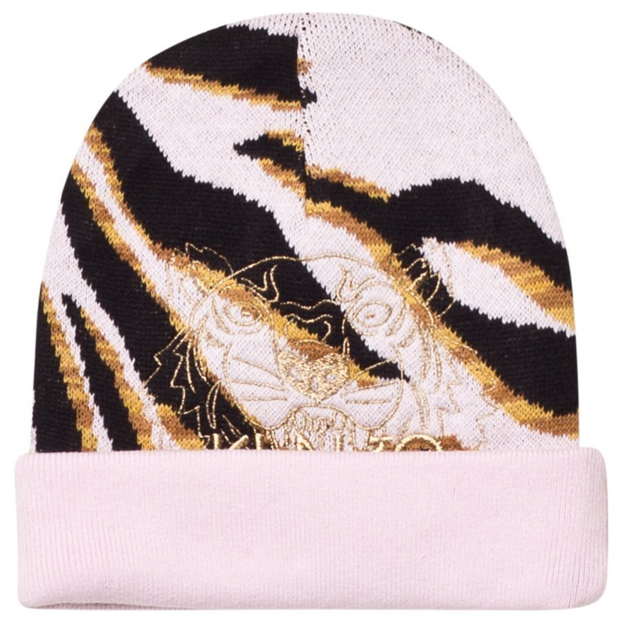 Kenzo Pink Tiger Embroidered Beanie Pipo