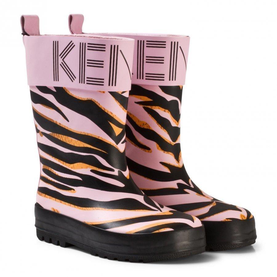 Kenzo Pink Tiger Print Rain Boots Kumisaappaat